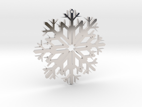 SnowFlake Design in Rhodium Plated Brass