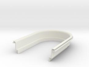 Air filter half in White Natural Versatile Plastic