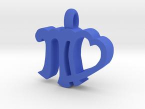 Virgo  in Blue Processed Versatile Plastic