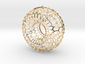 Honeycomb Torus Pendant in 14k Gold Plated