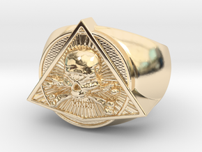 Saint Vitus Ring Size 11 in 14k Gold Plated Brass