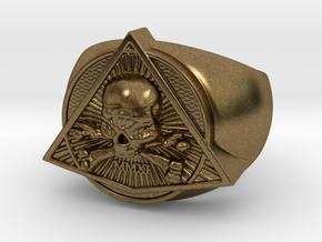 Saint Vitus Ring Size 11 in Natural Bronze
