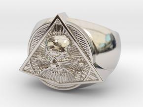 Saint Vitus Ring Size 11 in Rhodium Plated Brass