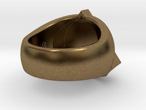 Saint Vitus Ring Size 10 in Natural Bronze