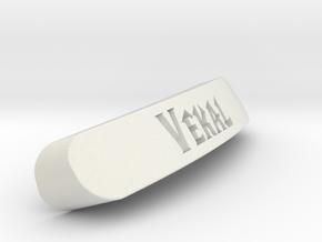 Vekal Nameplate for SteelSeries Rival in White Natural Versatile Plastic