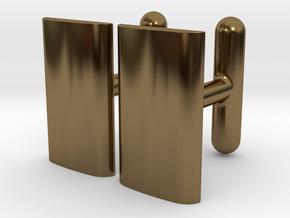 Schwarz cushion cufflinks in Polished Bronze