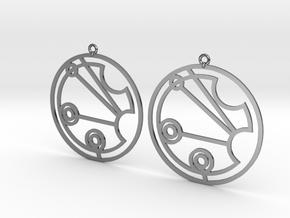 Justine - Earrings - Series 1 in Premium Silver