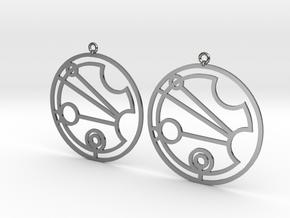 Justina - Earrings - Series 1 in Premium Silver