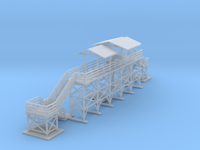 Oil Loading And Unloading Station Z Scale in Smooth Fine Detail Plastic