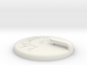 Rhombus Mag-Cap in White Natural Versatile Plastic