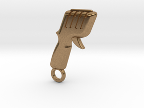 Slot Car Controller Keychain in Natural Brass