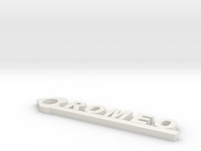 Romeo in White Natural Versatile Plastic