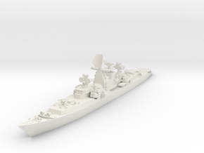 1/700 Soviet Kresta 2 class cruiser in White Natural Versatile Plastic