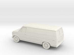 1/87 1985 Ford Econoline in White Natural Versatile Plastic
