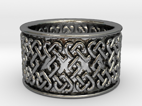 Celtic knot 1 ring Ring Size 9 in Premium Silver