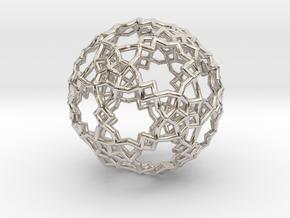 Sphere-132 in Rhodium Plated Brass