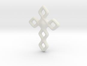 Cross necklace in White Natural Versatile Plastic