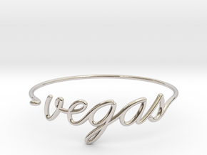 VEGAS Wire Bracelet (Las Vegas) in Rhodium Plated Brass
