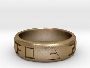 Hylian Hero's Band - 6mm Band - Size 7.5 in Polished Gold Steel