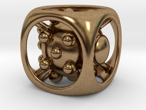 Dice No.1 S (balanced) (1.9cm/0.75in) in Natural Brass
