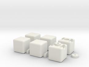 1x2x3 Cube in White Natural Versatile Plastic
