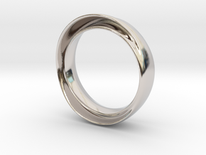 "'Endless Flow' - 16.5cm / 0.65"" - Size 6 in Rhodium Plated Brass"