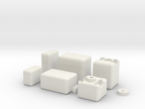 1x2x3 Mirror Cube in White Natural Versatile Plastic