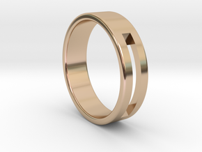 Minimalistic Mens Band  in 14k Rose Gold Plated Brass