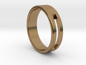 Minimalistic Mens Band  in Natural Brass