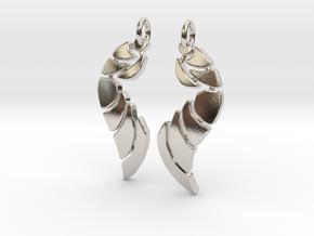 Bones Earrings Set in Rhodium Plated Brass