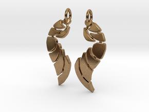 Bones Earrings Set in Natural Brass