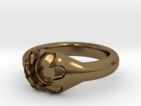Scalloped Ring (size 7.5) in Polished Bronze