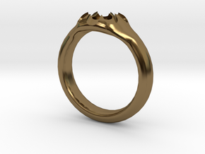 Scalloped Ring (size 5.5) in Polished Bronze