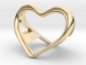 A and a Heart pendant in 14K Yellow Gold