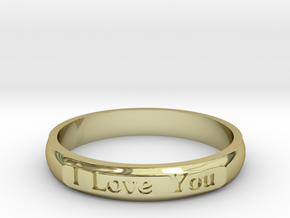 "Ring 'I Love You Inwards' - 16.5cm / 0.65"" - Size  in 18k Gold"