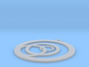 Offset Ring Pendant in Smooth Fine Detail Plastic