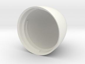 Egg V6 (30mm D x 45mm L) Bottom in White Natural Versatile Plastic