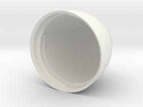 Egg V5 (34mm D x 50mm L) Bottom in White Natural Versatile Plastic