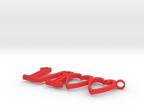 1/100 Pendant in Red Processed Versatile Plastic