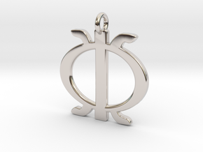 Wawa aba - African strength symbol in Rhodium Plated Brass