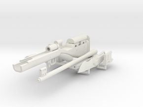 1:6 Mute Sniper Rifle + Dagger SF version in White Strong & Flexible