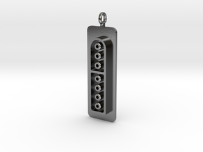 SNES Hers Controller Pendant in Polished Silver