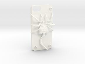 Iphone 5 Casehugger   in White Processed Versatile Plastic