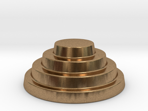 Devo Hat   15mm diameter miniature / NOT LIFE SIZE in Raw Brass
