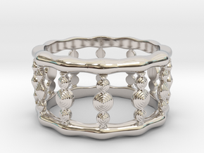 Designer COLUMN RING in Silver |  Gold |  Steel in Rhodium Plated Brass