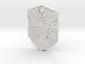 Souter Badge in White Natural Versatile Plastic