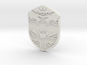 Britcit Badge in White Natural Versatile Plastic