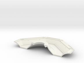 Half Underside in White Natural Versatile Plastic