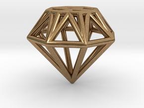 Diamond pendant | necklace | bracelet in Natural Brass