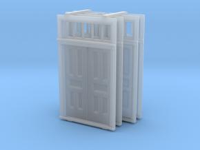 HO Scale Elmira Booking Station Door Set in Smooth Fine Detail Plastic